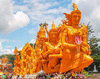 Candle Festival. UBON RATCHATHANI, THAILAND - July 12: The Candle are carved out of wax Stock Photo