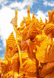 Candle Festival. UBON RATCHATHANI, THAILAND - July 12: The Candle are carved out of wax Stock Image