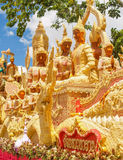 Candle Festival. UBON RATCHATHANI, THAILAND - July 12: The Candle are carved out of wax Royalty Free Stock Photo
