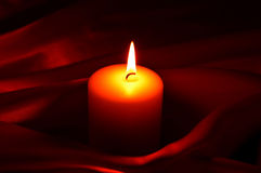 Candle, fire, background. Royalty Free Stock Images