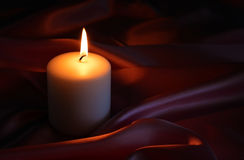 Candle, fire, background. Stock Image