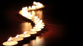 Candle fire stock footage