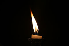 Candle fire Rip isolated backgound Stock Images
