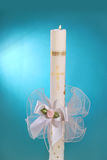 Candle for the first holy communion Stock Images