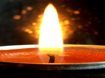 Candle and flame Stock Photo
