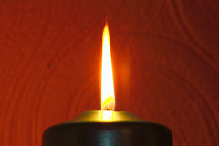 Candle flame. Taken in the dark Stock Images