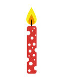 Candle flame birthday isolated icon. Illustration design Royalty Free Stock Photography