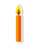 Candle flame birthday isolated icon. Illustration design Royalty Free Stock Photo