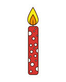 Candle flame birthday isolated icon. Illustration design Royalty Free Stock Images