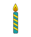 Candle flame birthday isolated icon. Illustration design Stock Images