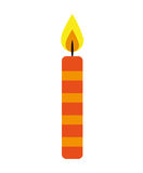 Candle flame birthday isolated icon. Illustration design Stock Photos