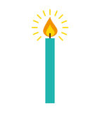 Candle flame isolated icon. Vector illustration design Stock Image
