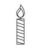 Candle flame isolated icon Royalty Free Stock Image