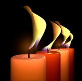 Candle flame light Stock Photos
