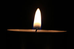 Candle flame macro isolated fire Royalty Free Stock Images