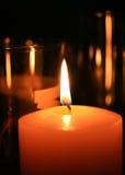 Candle flame at night closeup Stock Photography