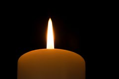 Candle flame seen from a low viewpoint Royalty Free Stock Images