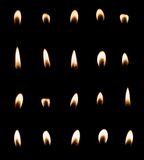 Candle flame set isolated Royalty Free Stock Photography