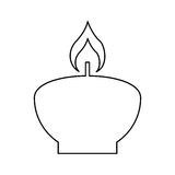 Candle flame spa isolated icon. Vector illustration design Stock Images