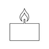 Candle flame spa isolated icon. Vector illustration design Stock Image
