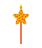 Candle flame star birthday isolated icon. Illustration design Stock Photos