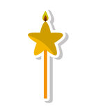 Candle flame star birthday isolated icon. Illustration design Royalty Free Stock Photo