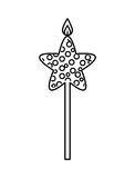 Candle flame star birthday isolated icon. Illustration design Royalty Free Stock Photography