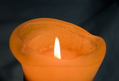 Candle with Flame Royalty Free Stock Images