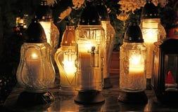 Candle flames illuminating Royalty Free Stock Photo