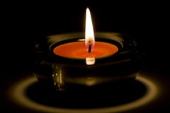 Candle flaming Royalty Free Stock Images