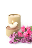 Candle and flower Royalty Free Stock Image