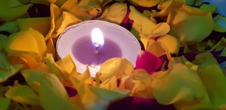 Small candle royalty free stock photo