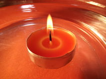 Candle-flowtting-on-water Royalty Free Stock Images