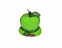 Candle in the form of a green apple Royalty Free Stock Photo