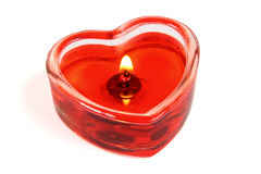 Candle in form of heart Stock Images