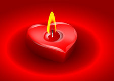 Candle in the form of heart Royalty Free Stock Image