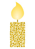 Candle formed from different christmas symbols Stock Photo