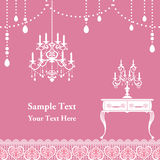 Candle frame. Candle pink frame. Illustration Royalty Free Stock Photos