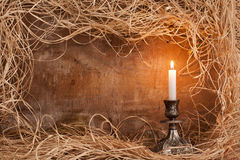 Candle frame Stock Photography
