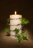 Candle for freedom Stock Image
