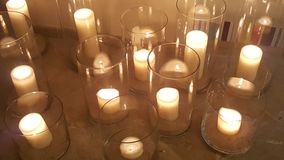 Candle Gang. A collection of candles Royalty Free Stock Photo