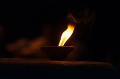 Candle for Ganga Aarti ritual Stock Photos