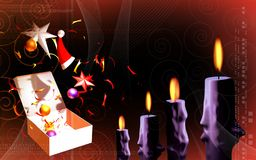 Candle with gift box Stock Image