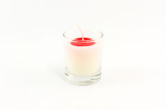 Candle in glass. Royalty Free Stock Photo