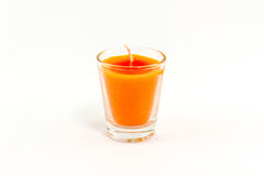 Candle in glass. Royalty Free Stock Images