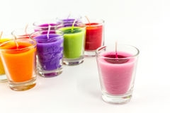 Candle in glass. Royalty Free Stock Image