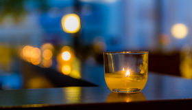 Candle in a Glass Stock Images