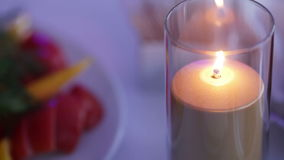 Candle in glass Royalty Free Stock Image