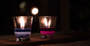 Candle in glass Royalty Free Stock Photos