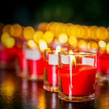 Candle in glass Stock Image